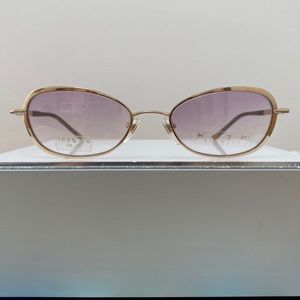 Vintage KATA Cleo Purple Gold Sunglasses